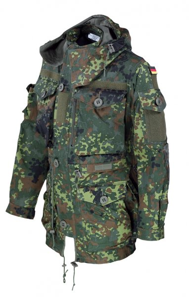 Einsatzkampfjacke KSK - Smock - RipStop - Flecktarn - Frontansicht