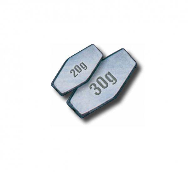 Grundblei sechskant – Gewicht 10 g bis 60 g