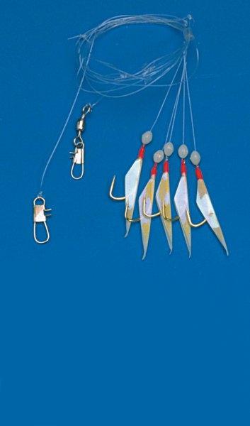 Behr Makrelenpaternoster mit 5 Goldhaken