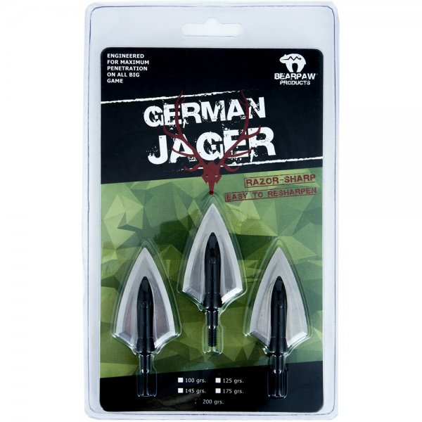 Bearpaw German Jager - Jagdspitzen 3er Pack