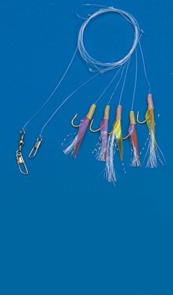 Behr Makrelenpaternoster mit 5 Glitzerfliegen